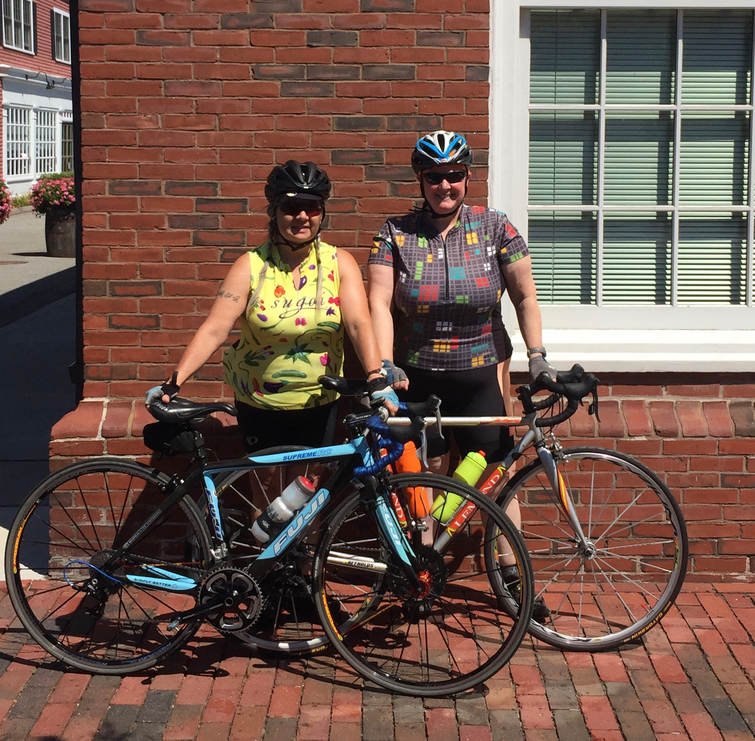 Pata and me this summer, caffeinated and ready to resume our Friday coffee ride.