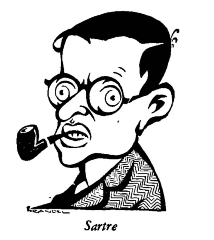 Jean Paul Sartre, French existentialist philosopher, who apparently just read this article.