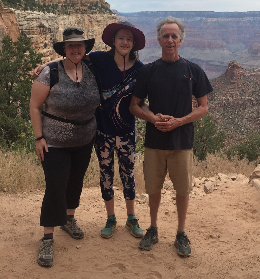 At the Grand Canyon with Leah and Tim.