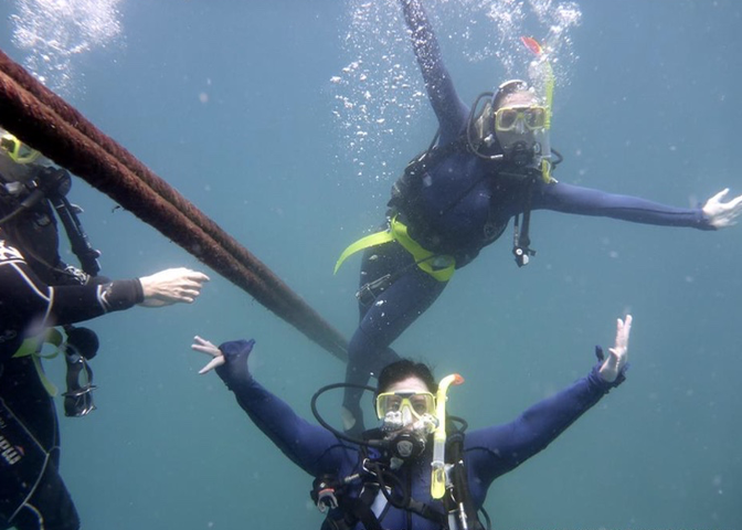 Scuba ballet photo op in 2015.