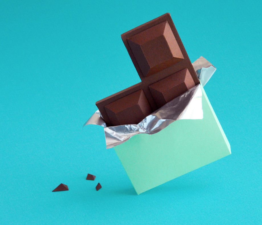 Yep, this chocolate is made of paper, too.