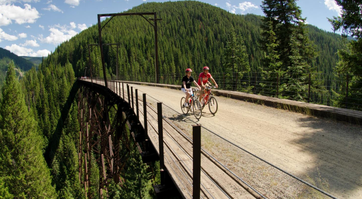 The Coeur D'Alene trail. Wow.