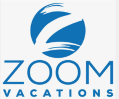 A logo for Zoom vacations