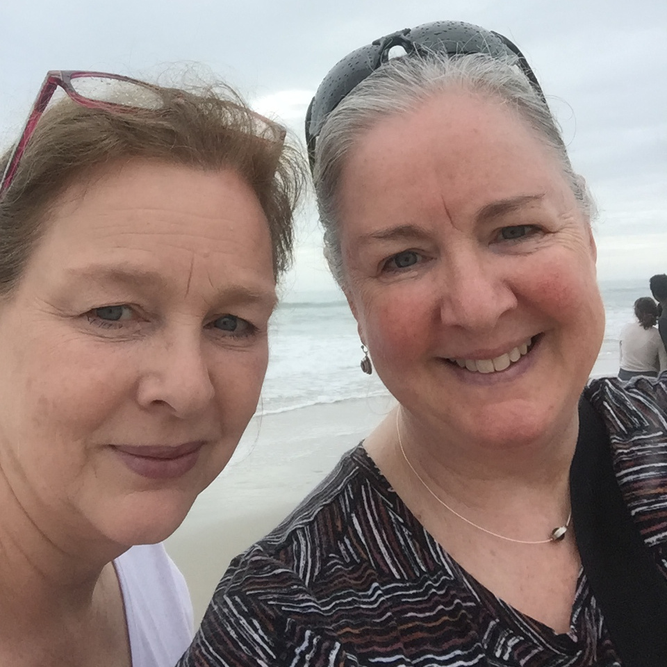 My sister Elizabeth (left) and me, on the beach in South Carolina.