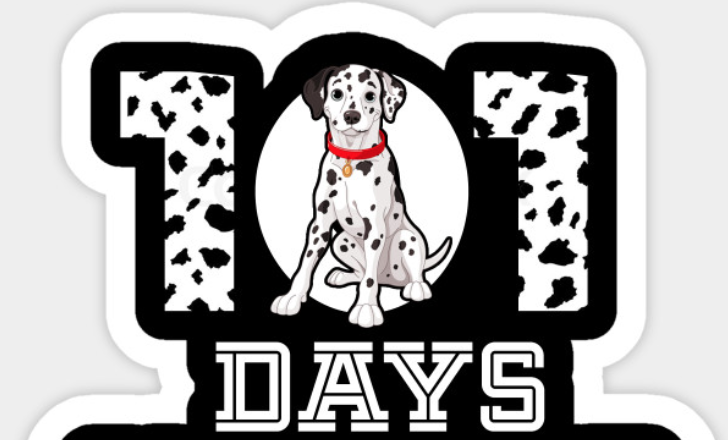 101 days, with a dalmatian in the middle.
