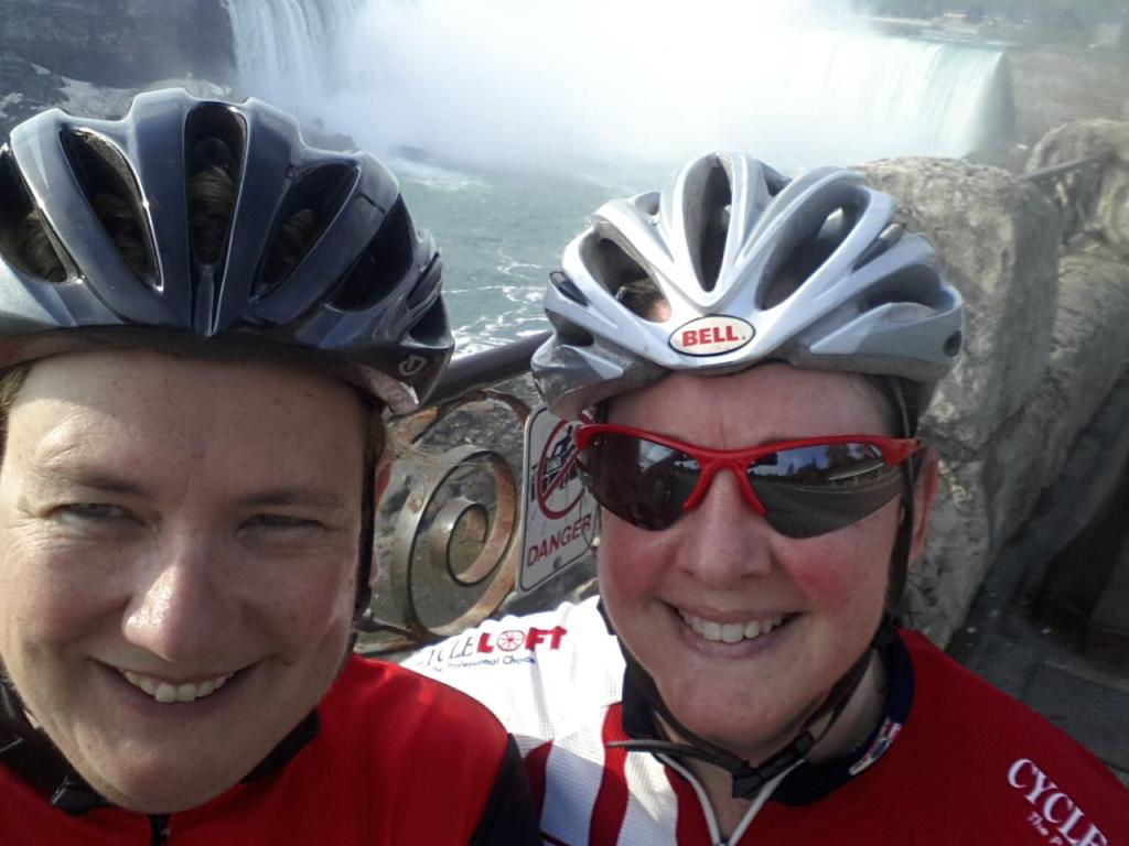 Samantha and me at Niagara Falls around 7:30am.