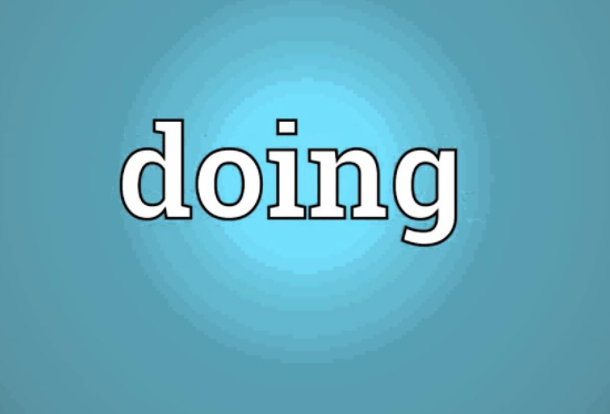 the word doing