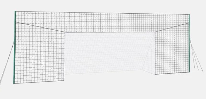 An open soccer/football goal.