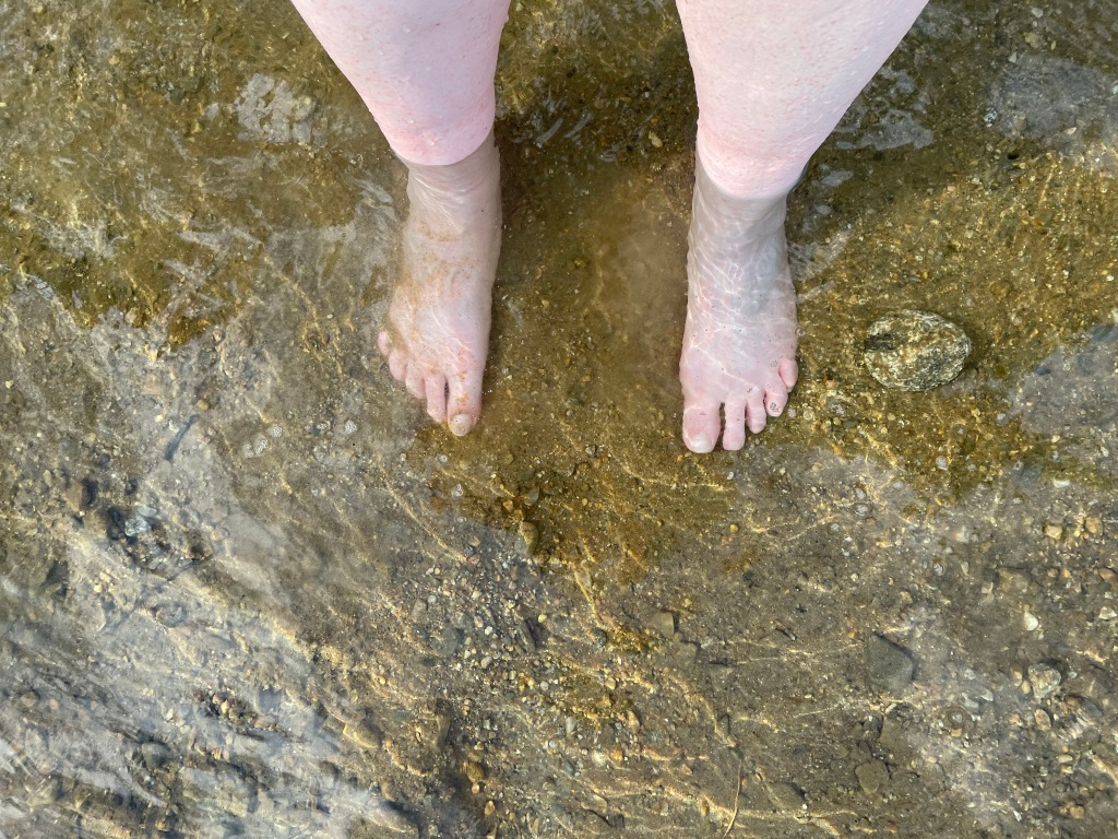 Up to my ankles in chilly water.