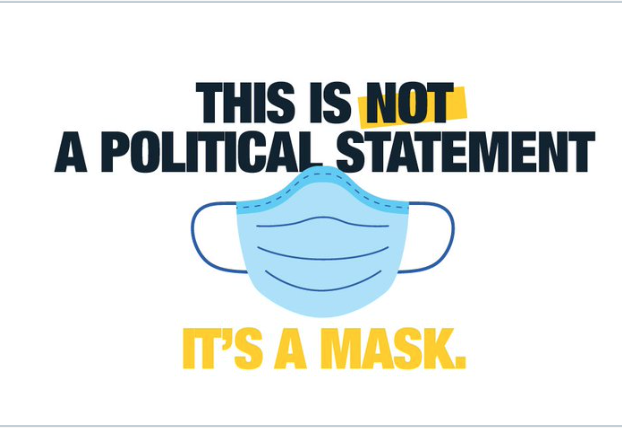 Retweet from Wynne: This is not a political statement. It's a mask.
