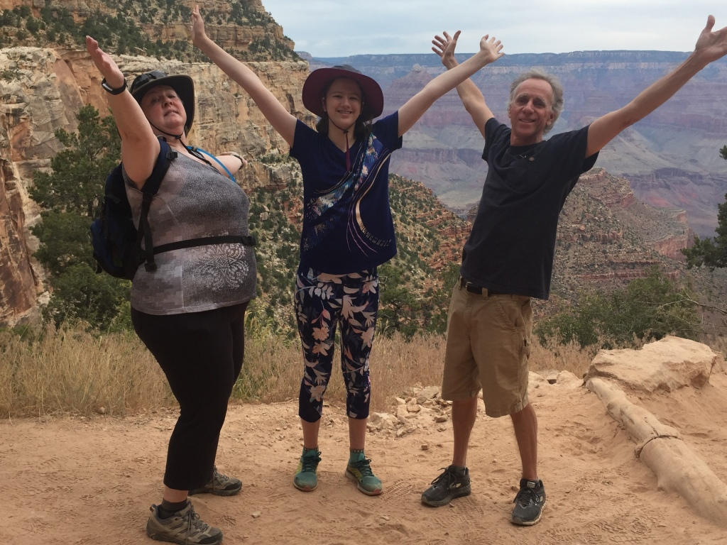 Slow hiking exuberance with Leah and Tim in the Grand Canyon. Maybe Arizona is good for slow hiking? Will be exploring other state options this summer.