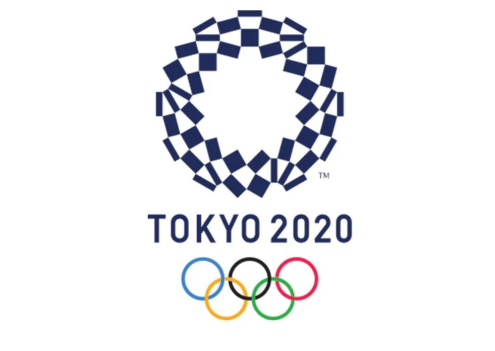 The Tokyo Olympics logo and Olympic rings